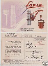 # ROMA: ditta LANSA- ELEVATORE FALCHETTO - brevetto Andriani