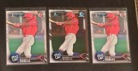 (x3) Victor Robles ⚾ 2016 Bowman Prospects & Chrome #BCP10 Rookie Lot Nationals