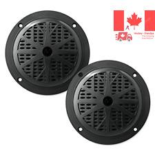 Pyle PLMR61B 120W 6 5-Inch 2-Way Marine Speakers Black