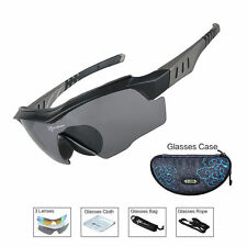RockBros Polarized Bike Sunglasses Cycling Glasses Anti-sweat UV400 Black Gray