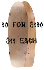 "10 Mini Longboard Skateboard Decks 30"" x 8.75"" Natural"