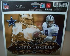 TONY ROMO 5X6 PLAYER ULTRA DECAL WINCRAFT