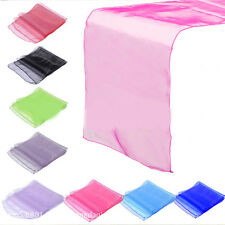 Sash Sheer Organza Table Runner Fabric Garden Party Wedding Chair Decorations