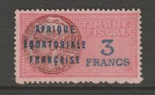 France Africa Colonies fiscal revenue stamp 7-11-20- used no gum