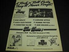 Bob Welch at Roxy 1982 Promo Ad w/ Ann Wilson Carmine Appice Mick Fleetwood refs