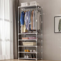 55x40x174cm Portable Coat Rack Clothes Hanger Shelf Wardrobe Closet Organiser