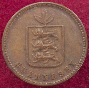 Guernsey 2 Doubles 1858 (G2608)