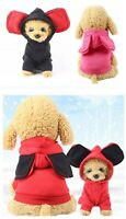 Dog Hoodie Costume Coat Ears Pet Clothes Puppy Bear Size S Small Medium Large XL