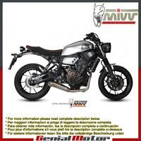 Scarico Completo MIVV Ghibli Acciaio inox per Yamaha Xsr 700 2016 > 2018