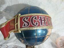 1976 Vintage Schlitz Large World Globe Wall Bar Light Beer Sign Trade Pure Mark