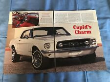"""1967 Ford Mustang Convertible Vintage Article """"Cupid's Charm"""""""