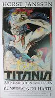 HORST JANSSEN - Titania (1994). Ausstellungsplakat / Offset handsigniert.