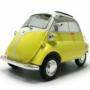 1:18 Classic 1955 BMW Isetta Model Car Diecast Toy Vehicle Yellow Collection