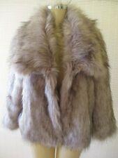 $199 ADRIENNE LANDAU GRAY MIX 3/4 SLEEVE FAUX FUR COAT SIZE L - NWT