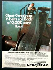 1971 GOODYEAR Rubber Engineering Magazine Ad - Farming Irrigation Pump Belts