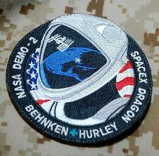 NASA Commercial Crew Program SPACEX DRAGON DEMO-2 Behnken/Hurley velkrö PATCH