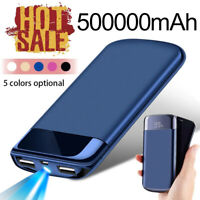 External Battery LED 2USB Power Bank 500000mAh Portable Mobile Phone Charger USA