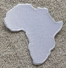 AFRICA MAP PATCH White Rastafarian Badge/Emblem Biker Jacket King Selassie Jah