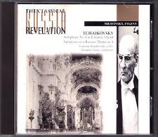 MRAVINSKY TCHAIKOVSKY Symphony No.5 Rococo Variations CD Sviatodlav Knushevitsky