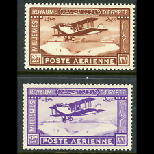 EGYPT 1926 Air. SG 132-133. Mint. Hinge Remains. (WD021)