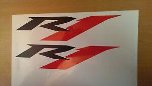Yamaha R1 Aufkleber schwarz-rot