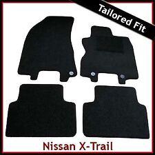 NISSAN X-TRAIL mk2 2007-2014 completamente montato su misura moquette tappetini Nero