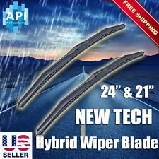 "Hybrid silicone Windshield Wiper Blades Bracketless 24"" & 21"" J-HOOK OEM QUALITY"