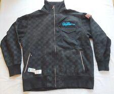 Roca Wear Zip Up Sweatshirt Jacket Size 2XL Black Aqua