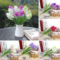 3 Flower Heads Silk Hyacinth Artificial Flowers Wedding Party Home Bouquet Decor