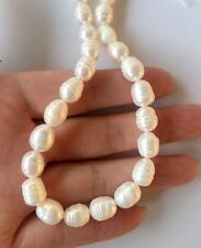 choose Jewelry making 1Strand Natural Freshwater Rice shape Pearl Beads8-9mm