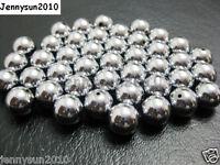 100pcs Natural Grey Hematite Gemstone Round Ball Spacer Beads 4mm 6mm 8mm 10mm