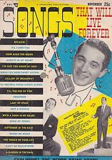 NOV 1953 SONGS THAT LIVE FOREVER vintage music magazine PERRY COMO