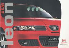Seat Leon folleto 5 03 brochure 2003 auto turismos auto folleto folleto España