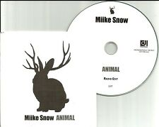 MIIKE SNOW Animal Edit WITHOUT BAND PHOTO LIMITED COVER PROMO DJ CD Single mike