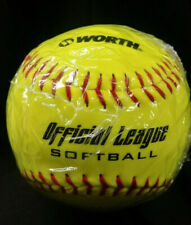 Worth Yellow 12 inch Official League Softball Ball New Factory Sealed Ywcs12