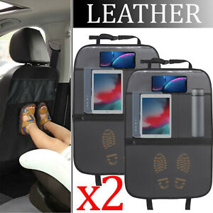X2 Car Auto Seat Back Protector Cover For Children Kids Kick Mat Mud Dirt Clean