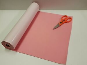 5 Mtr x 450mm wide roll of BABY PINK STICKY BACK SELF ADHESIVE FELT / BAIZE