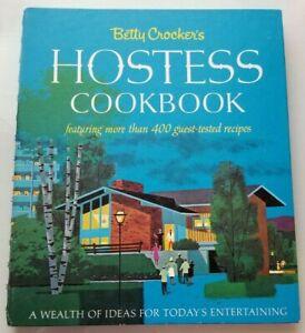 1967 1st Edition BETTY CROCKER'S HOSTESS COOKBOOK 400+ Tested Recipes SPIRAL