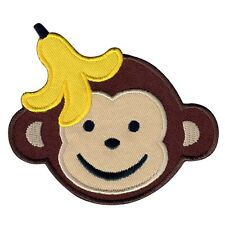 PatchMommy Monkey Patch, Iron On / Sew On - Animals Kids Appliques