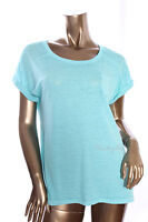STYLE&CO. New Womens Fashion Aqua Scoop Neck Short Sleeve Knit Top Size S, L, XL