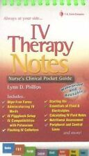 IV Therapy Notes: Nurse's Clinical Pocket Guide (Nurse's Clinical Pocket Guides)
