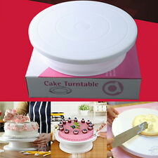 Rotating Revolving Bake Cake Plate Decorating Turntable Kitchen Display Stand