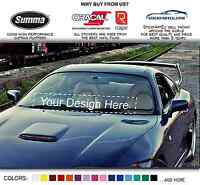 Custom Logo Your Text from photo file car Vinyl windshield banner sticker decal