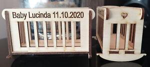 Laser cut decorative Cot / Crib 3 mm plywood