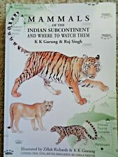 Signed Mammals of the Indian Subcontinent by Gurung & Singh Leopard Tiger Civet