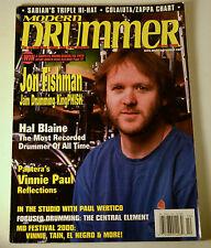 Modern Drummer Magazine Oct. 2000 Jon Fishman