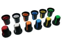 6 Colours Plastic Pot Knobs for 6mm Potentiometer / Rotary Switch / Encoder