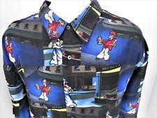 XL Spray Paint Artist Decoy CA Graffiti Art  Button Front Camp Shirt VP UP Ro's