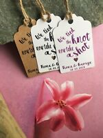 Personalised We Tied the Knot Take a Shot  Wedding Favour Tags  Thank You 20511