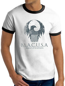 Fantastique Beasts M. A. C. USA Logo Unisexe Licence Officielle T-Shirt Redmayne